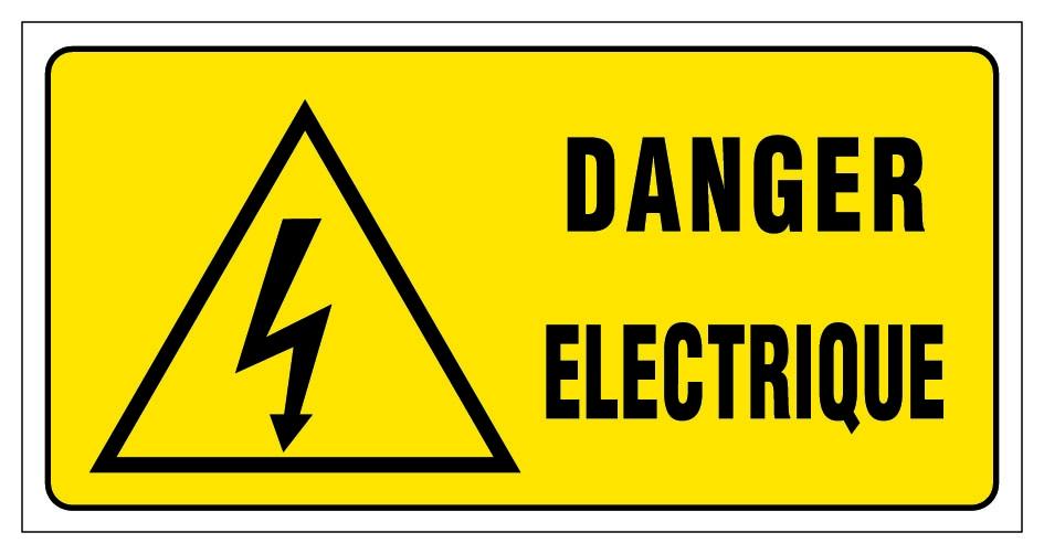 Danger electrique panneaux de signalisation et signaletique for Dangers de l electricite
