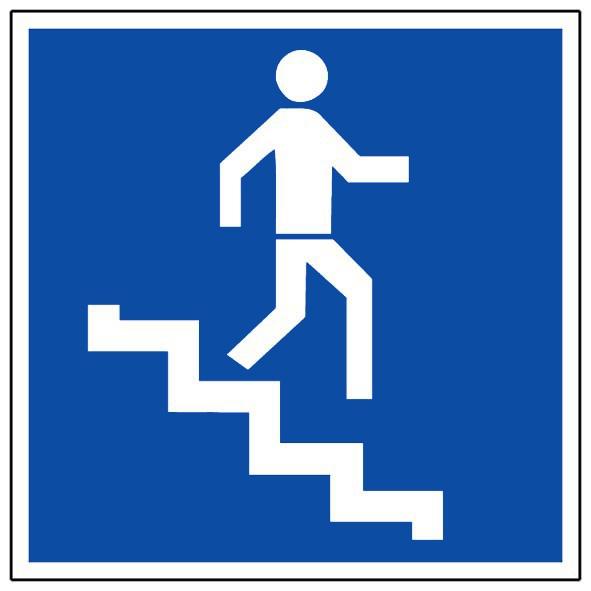 Escalier Descente Panneaux De Signalisation Et Signaletique